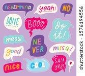 set of colorful speech bubbles... | Shutterstock .eps vector #1576194556