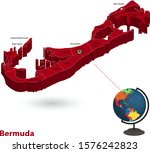 bermuda 3d flags map and vector ... | Shutterstock .eps vector #1576242823