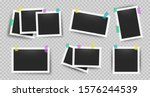 realistic photo frames with... | Shutterstock .eps vector #1576244539