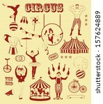 pattern of the circus   Shutterstock .eps vector #157624889