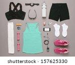 sports set.   running equipment ... | Shutterstock . vector #157625330