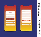 login form template for mobile...