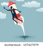 abstract businessman jets off... | Shutterstock . vector #157627079