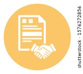 agreement isolated vector icon ... | Shutterstock .eps vector #1576272856