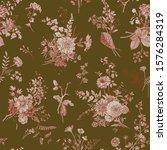 vintage floral illustration.... | Shutterstock .eps vector #1576284319