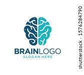 brain logo design vector... | Shutterstock .eps vector #1576284790