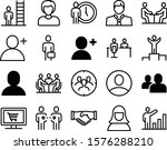 people vector icon set such as  ... | Shutterstock .eps vector #1576288210