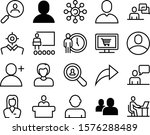 people vector icon set such as  ...