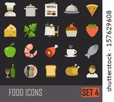 collection of food icons on...
