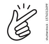 snap your fingers or finger... | Shutterstock .eps vector #1576312699