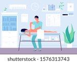 massage concept. occupational... | Shutterstock .eps vector #1576313743