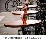 Romantic Parisian Cafe.