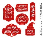 secret santa gift tags  red... | Shutterstock .eps vector #1576321816
