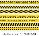 black and yellow stripes.... | Shutterstock .eps vector #1576330543