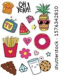 modern colorful stickers on a... | Shutterstock .eps vector #1576342810