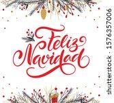 vector card merry christmas... | Shutterstock .eps vector #1576357006