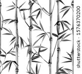 bamboo seamless vertical border ... | Shutterstock .eps vector #1576370200