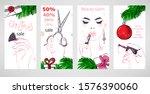 vector christmas background.... | Shutterstock .eps vector #1576390060