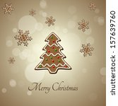 delicious christmas... | Shutterstock . vector #157639760