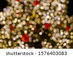 gold and red christmas light... | Shutterstock . vector #1576403083