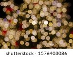 gold and red christmas light... | Shutterstock . vector #1576403086