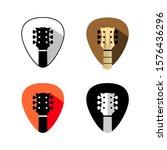 guitar headstock logo. mediator ... | Shutterstock .eps vector #1576436296
