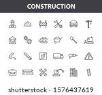 set of 24 construction web... | Shutterstock .eps vector #1576437619