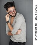 sexy fashion man with beard... | Shutterstock . vector #157646438
