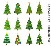 collection of christmas trees ...   Shutterstock .eps vector #1576493119