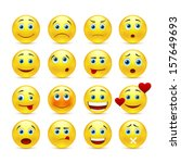 vector emotional face icons | Shutterstock .eps vector #157649693