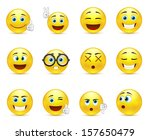 vector set   smiley faces... | Shutterstock .eps vector #157650479