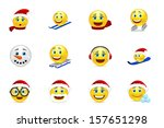 christmas and new year smile... | Shutterstock .eps vector #157651298