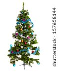 christmas tree decorations | Shutterstock . vector #157658144