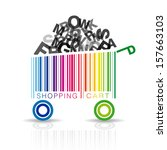 abstract vector shopping cart... | Shutterstock .eps vector #157663103