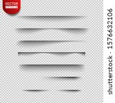 set of realistic transparent... | Shutterstock .eps vector #1576632106