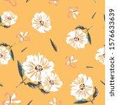 Cosmos Flower Seamless Pattern...