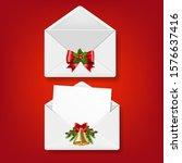 merry christmas envelope set...   Shutterstock .eps vector #1576637416
