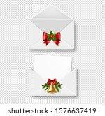 merry christmas envelope set...   Shutterstock .eps vector #1576637419