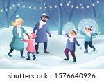 happy cartoon characters ... | Shutterstock .eps vector #1576640926