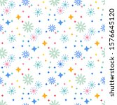 snowflakes and stars. perfect... | Shutterstock .eps vector #1576645120