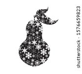 vector silhouette of snowy pear ... | Shutterstock .eps vector #1576659823