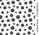 black dots seamless pattern.... | Shutterstock .eps vector #1576660810