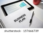 business plan strategy with... | Shutterstock . vector #157666739