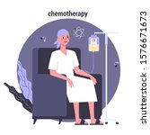 patient suffer from cancer... | Shutterstock .eps vector #1576671673