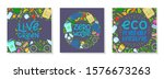 bundle of zero waste vector... | Shutterstock .eps vector #1576673263