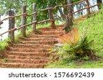 Soil Steps Wooden Walkway...