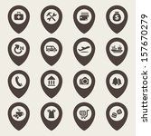map icons set   Shutterstock .eps vector #157670279