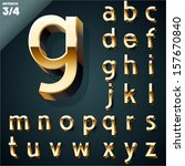 vector illustration of golden...   Shutterstock .eps vector #157670840