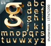 vector illustration of golden... | Shutterstock .eps vector #157671200