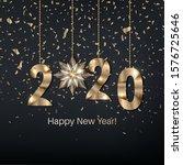 happy new year 2020.festive... | Shutterstock .eps vector #1576725646
